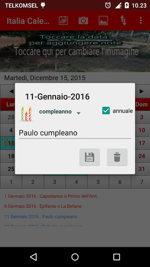 Italia Calendario 2016- screenshot