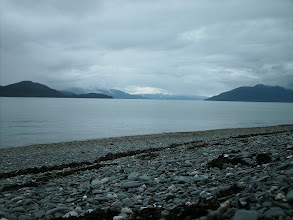 Photo: Looking west up Stephens Passage from my campsite by Greely Point.