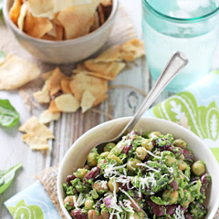 Pesto Bean Salad with Almonds and Cranberries