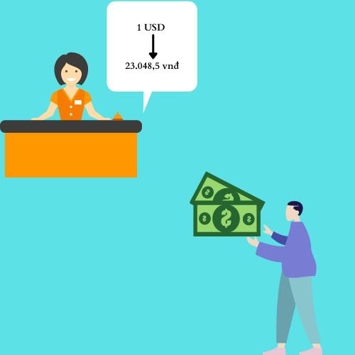 đổi tiền USD/VND