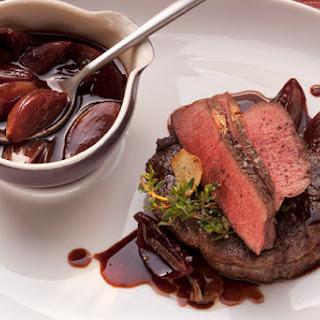 Roast Beef with Shallot-Balsamic Sauce