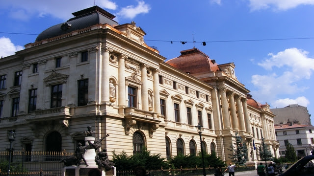 National Bank in Old City Bucharest