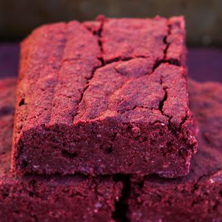 Fudgy Red Velvet Brownies [Vegan, Gluten-Free]