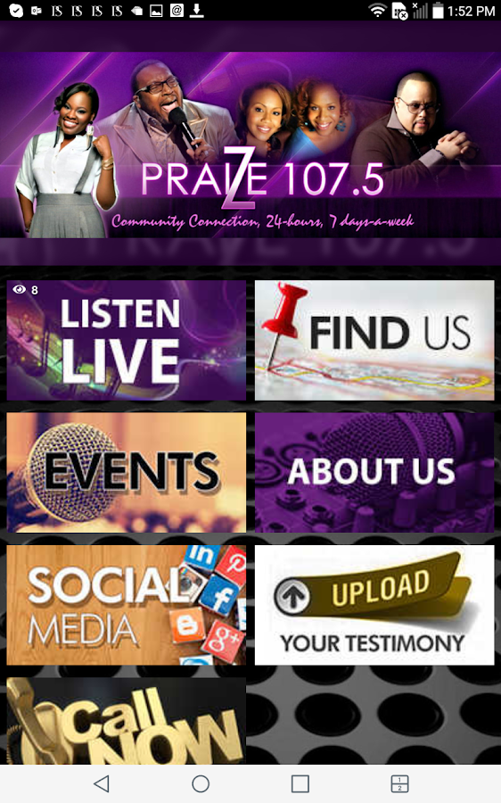 PRAIZE 107.5 FM- screenshot
