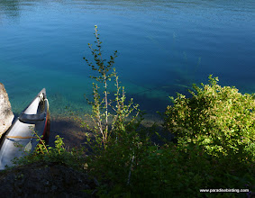 Photo: Crystal-clear waters and a steep bottom make for awesome colors in Blue Lake