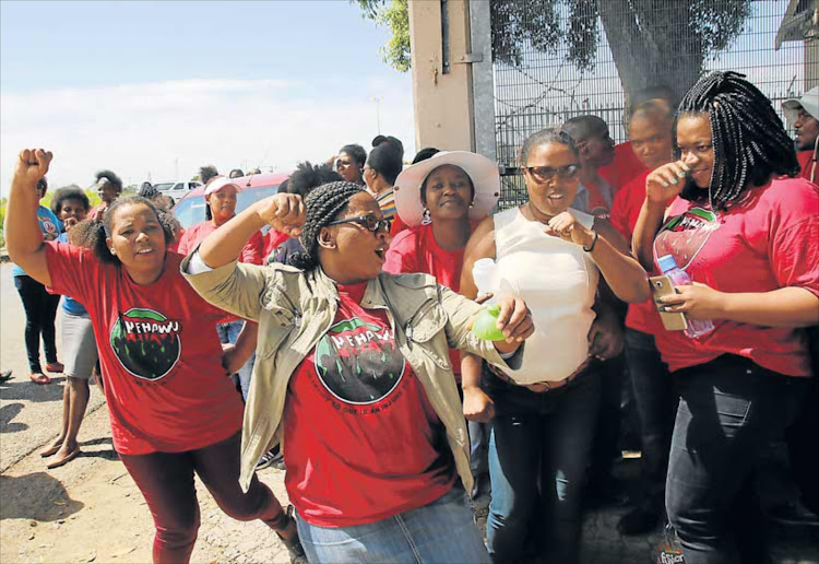 Union leaders are to meet with social development minister Susan Shabangu later on Wedneday.