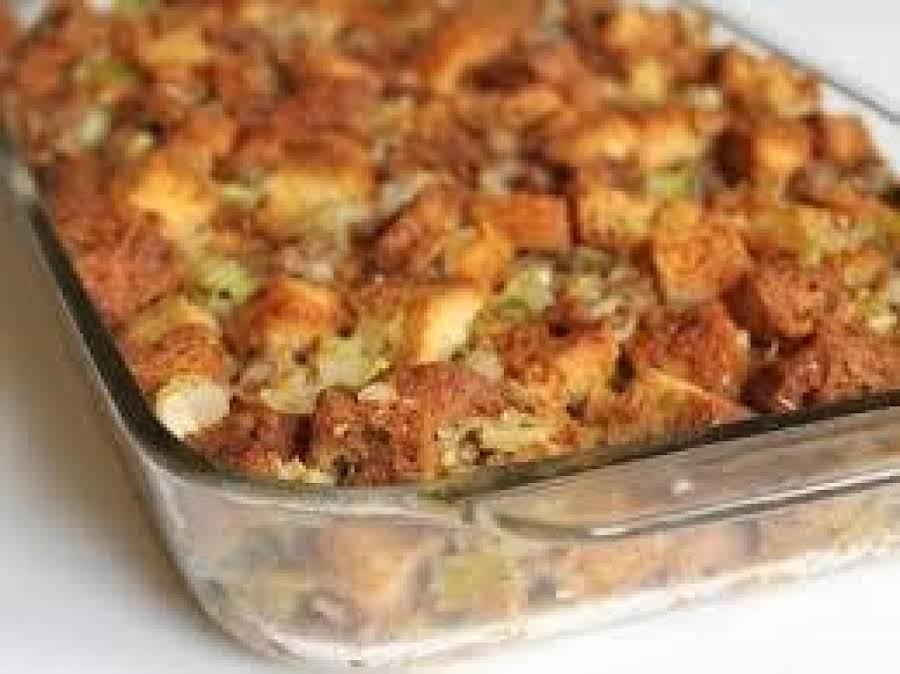 Roasted Onion Sausage And Mushroom Dressing Recipe | Just ...