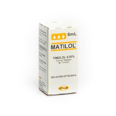 Timolol Matilol Gotas Oftálmicas 0,50% x 6 mL