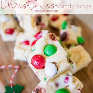 Christmas Candy Cookie Dough Fudge - Neighbor Gift