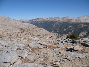 Photo: looking back down Lyell Canyon