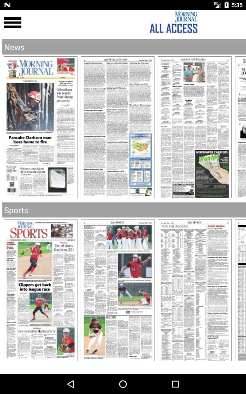 Скриншот Morning Journal All Access