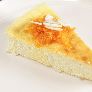 Lemon, Ricotta, Yogurt Cake with Carrot Preserves.