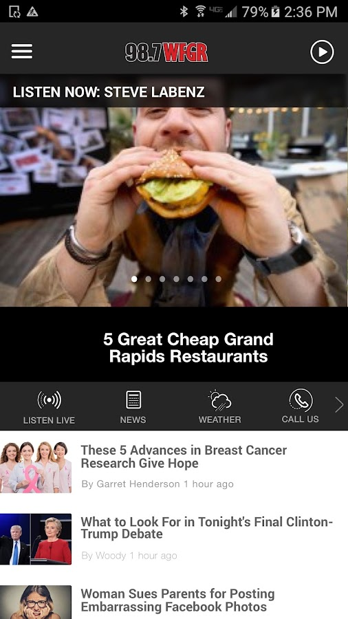 98.7 WFGR - Grand Rapids Greatest Hits Radio- screenshot