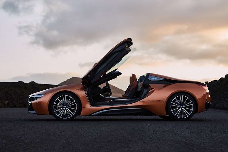 BMW's supercar could take its cue from the mid-engined petrol-electric i8 (pictured), but would pack enough power to chase McLarens. Picture: SUPPLIED