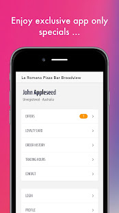 La Romana Pizza Bar Broadview Apps En Google Play