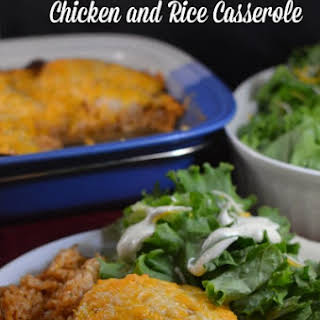 BBQ Ranch Chicken and Rice Casserole.