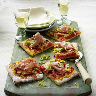 Shredded Cabbage and Prosciutto Pizza