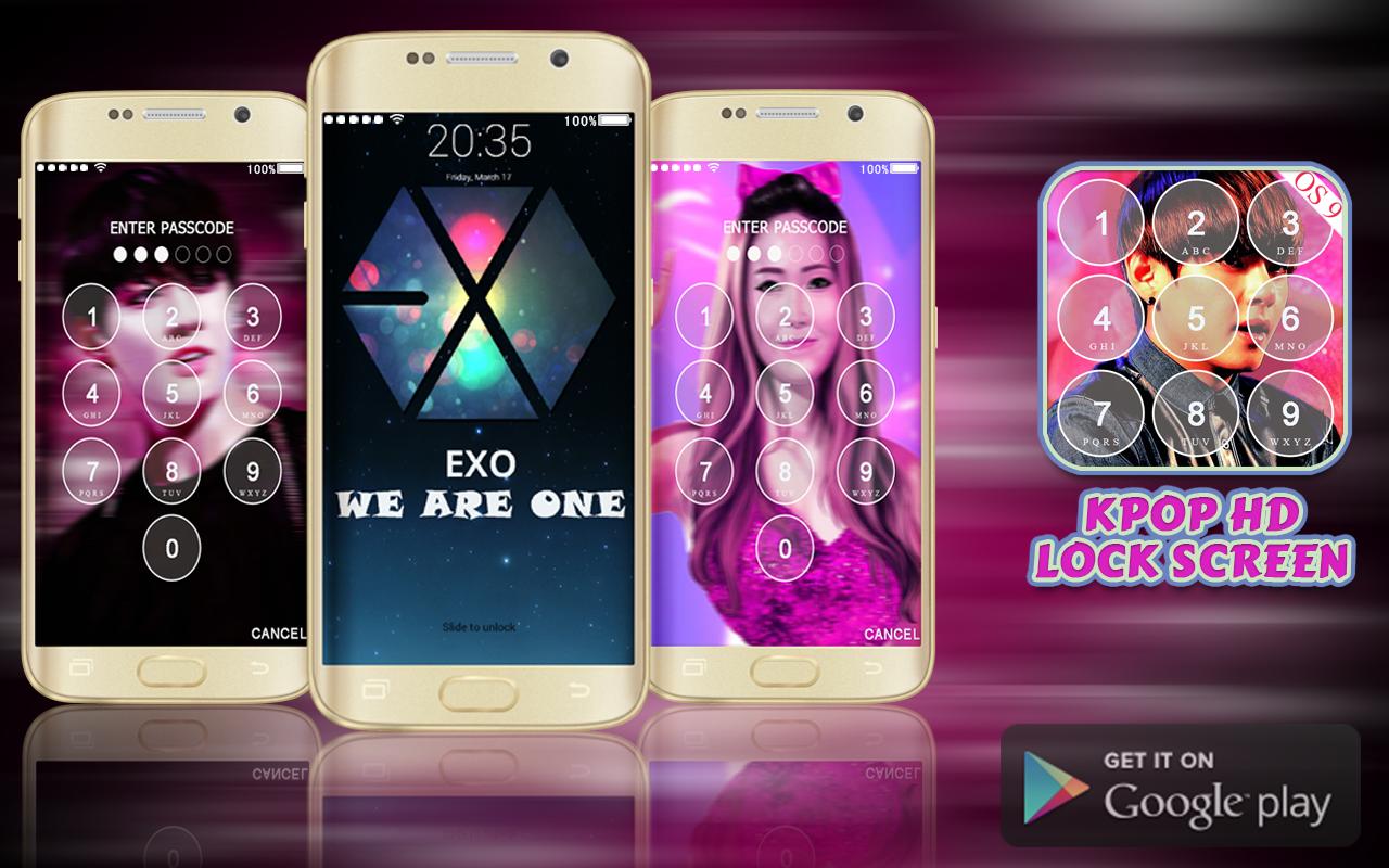 Google themes kpop - Kpop Lock Screen Hd Free Screenshot
