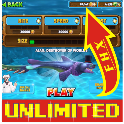 Cheat Hungry Shark Evolution New ProGuide2017