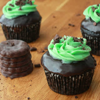 Dark Chocolate Mint Cupcakes.