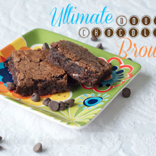 Ultimate Double Chocolate Brownies.