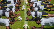 Kaizer Chiefs players during a training session at Naturena in Johannesburg.