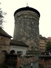 Photo: One of the four towers lining Nurnberg's walls