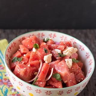 Watermelon Feta Salad with a Balsamic Dressing
