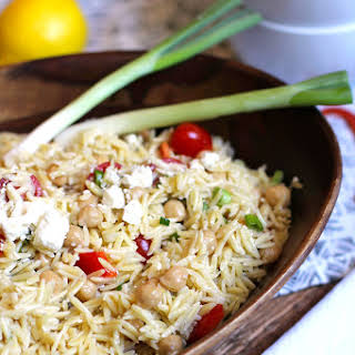 Lemon Orzo Pasta Salad.