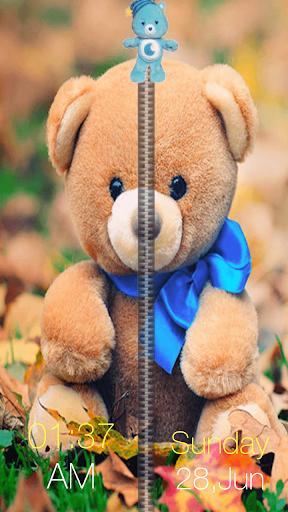 泰迪熊拉链锁屏