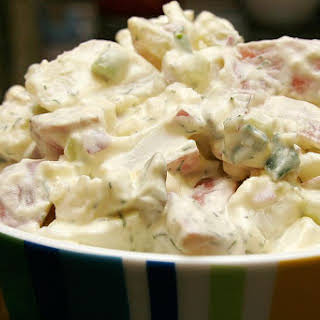 Red Potato Salad with Mayonnaise Dressing.