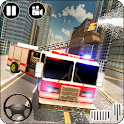 Heavy Ladder Fire Truck City Rescue 2019 icon