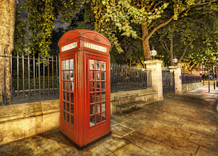 Photo: Whenever I see these wonderful red telephone boxes, I feel like I'm time-traveling in London!  I took this one last time I was there... walking back to my hotel room with +Scott Kublin