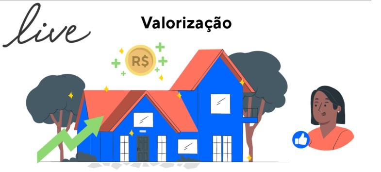 A valorização do imóvel dá-se través das condições favoráveis ao uso, como uma casa bem cuidada, por exemplo.