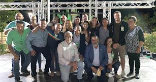 Miembros de la candidatura de UCIN anoche en la celebración en la Plaza Mayor. Foto: P. Soler