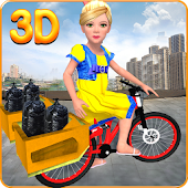 Garbage Bicycle Kids Rider 3D