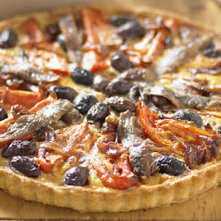 Roasted Tomato, Caramelized Onion and Olive Quiche.
