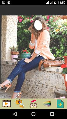 Girls Jeans Fashion Selfieのおすすめ画像3