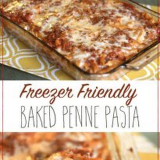 Baked Penne Pasta–Freezer Friendly!