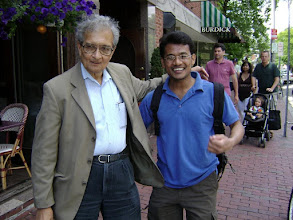 Photo: Amartya Sen(Noble Prize(In Economics) Winner)