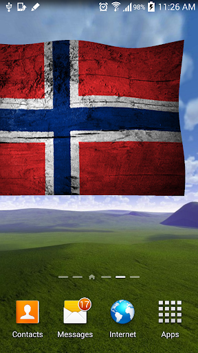 Norway flag live wallpaper 3D
