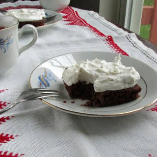 Brownies with Whipped Coconut Cream (Vegan, No Refined Sugar).