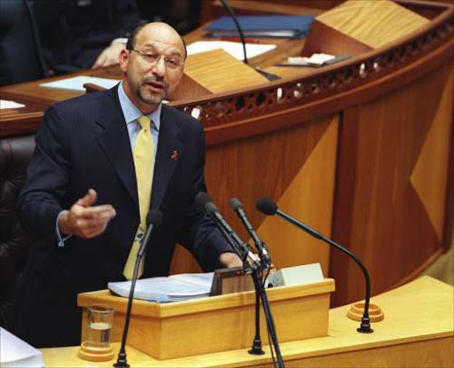 Finance Minister Trevor Manuel presents the budget to Parliament in Cape Town. Pic: Tyrone Arthur. 23/2/00. © BD.  ADVICE: Finance Minister Trevor Manuel. page 7. 14/09/07.
