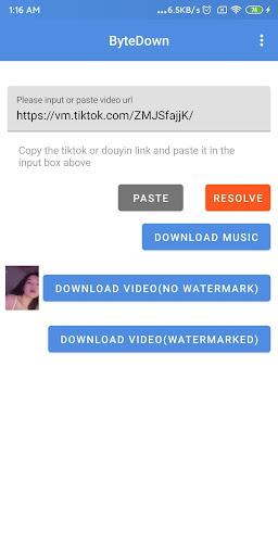 ByteDown- VideoDownloader for TikTok and Douyin 0.0.2 screenshots 1