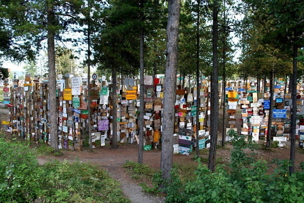 Sign Post Forest, the Canadian license plate forest