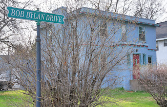 Photo: Bob Dylan was born Robert Allen Zimmerman and raised in Hibbing, on the Mesabi Range west of Lake Superior. This is his boyhood home. (May, 2014 photo)