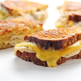 Leftover Turkey Gouda Grilled Cheese
