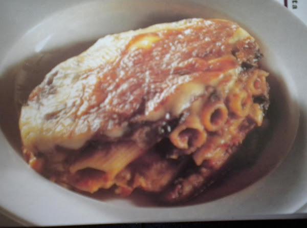 Baked Eggplant, Tomato & Pasta Gratin Recipe