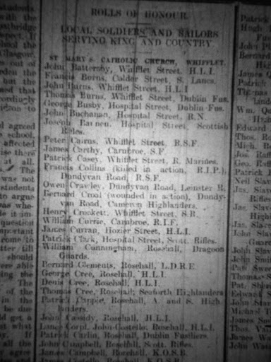 Thomas Burns newspaper clipping