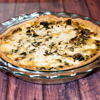 Goat Cheese Spinach and Sausage Quiche